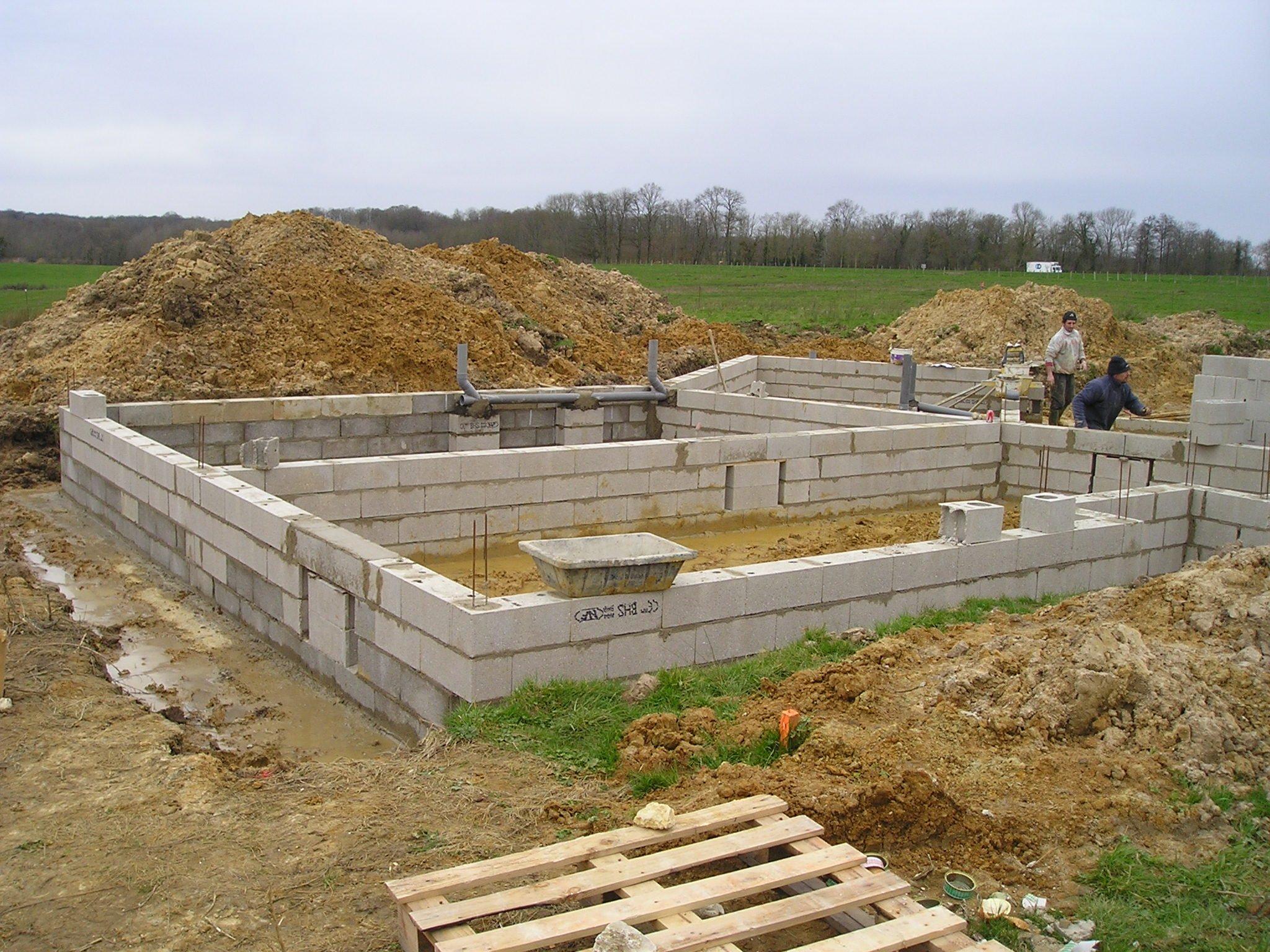 La construction de notre maison vide sanitaire - Construction vide sanitaire ...