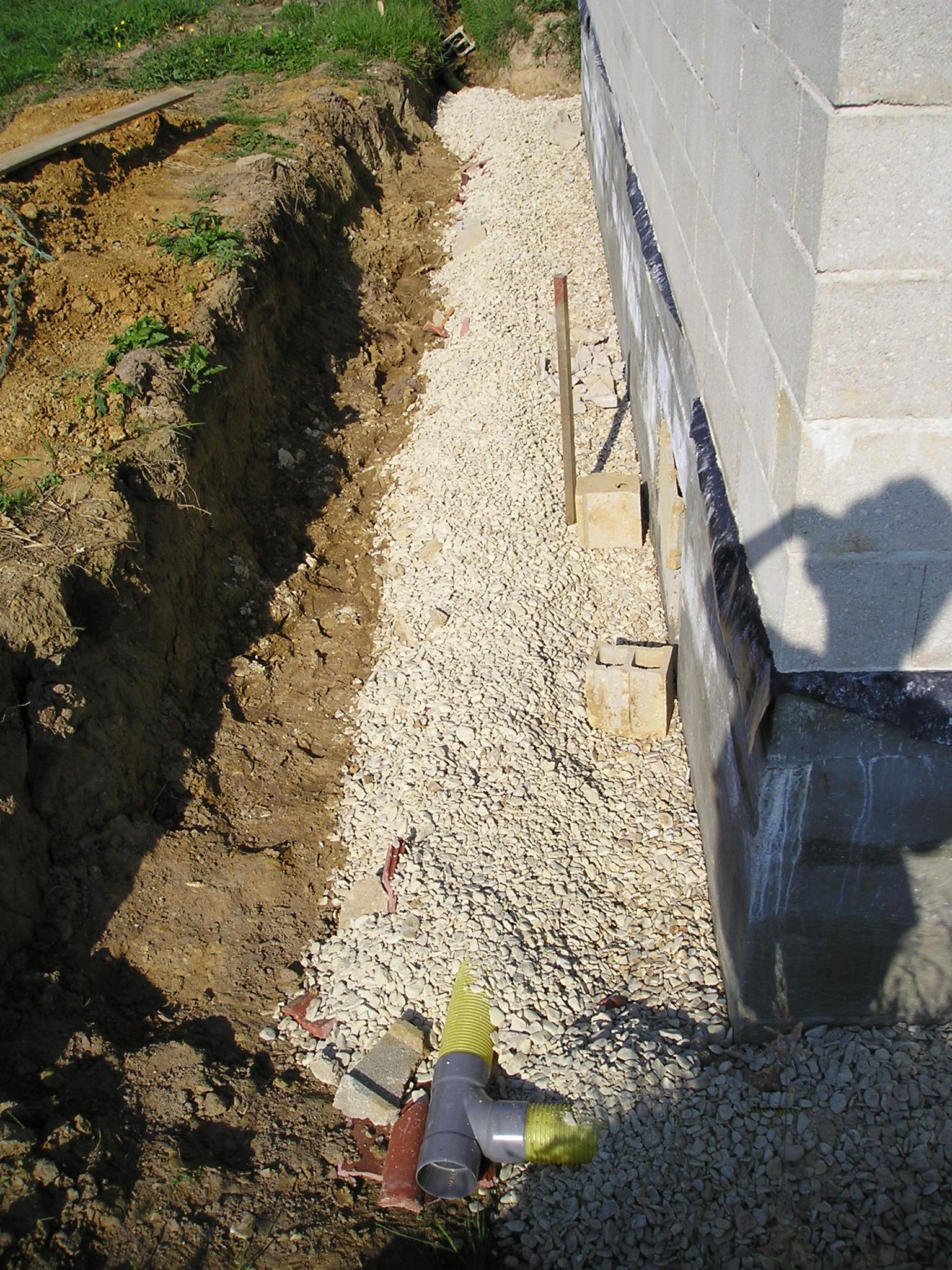 La construction de notre maison - Drainage autour d une maison ...